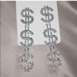 Brand new dollar sign earrings